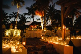 Tropical Outdoor Rehearsal Dinner